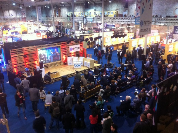 View from above - the Pitch stage and STARTGlobal area at Dublin Web Summit 2013